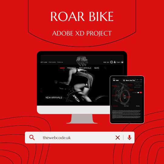 UX UI design website roar bike thewebcode project